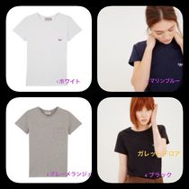 ★NEW ARRIVALS★MAISON KITSUNE★T-SHIRT TRICOLOR FOX PATCHE