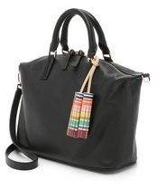 【 Tory Burch 】 multi-color SMALL SLOUCHY SATCHEL 黒