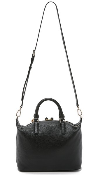 【 Tory Burch 】 multi-color SMALL SLOUCHY SATCHEL 濃赤