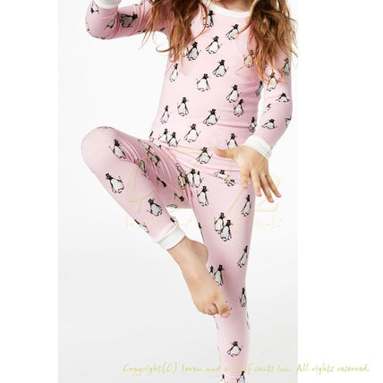BedHead Pajamas ストレッチ キッズパジャマ Pink Penguins 8
