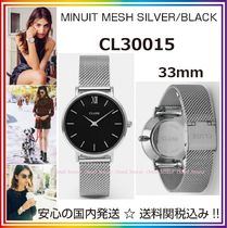 CLUSE(クルース) アナログ腕時計 日本未発売☆CLUSE☆Minuit Mesh【CL30015】Silver&Black/国内発