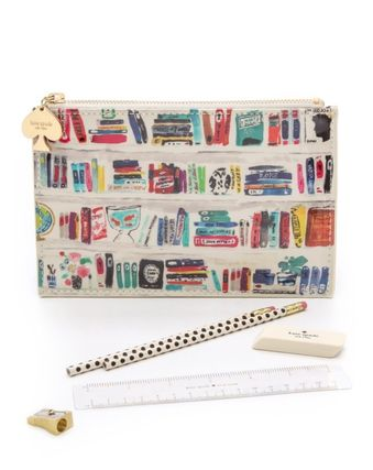Kate Spade BOOKSHELF pencil case set