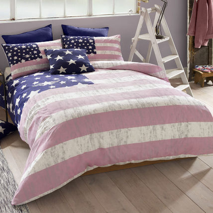 A CUTE pink American single bed linen set