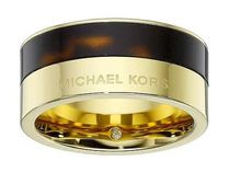SALE!!!【Michael Kors】black gold 贅沢ロゴ リング US6号★