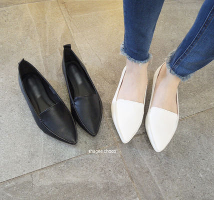 Ka and pointed toe Opera simple flat shoes
