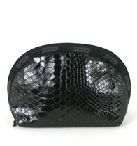 LeSportsac US限定 LEATHERETTE SNAKE M-DOME COSME 8170-P699