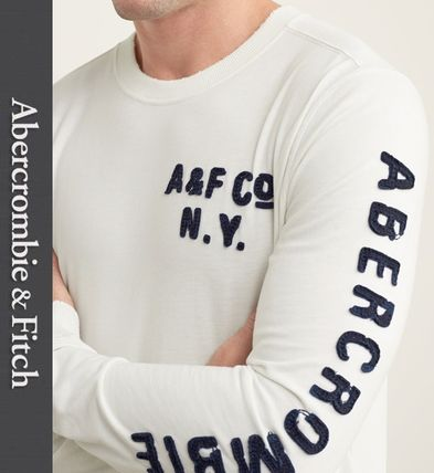 Abercrombie & Fitch Tシャツ・カットソー ★即発送★在庫あり★A&F★Applique Graphic Long Sleeve Tee★
