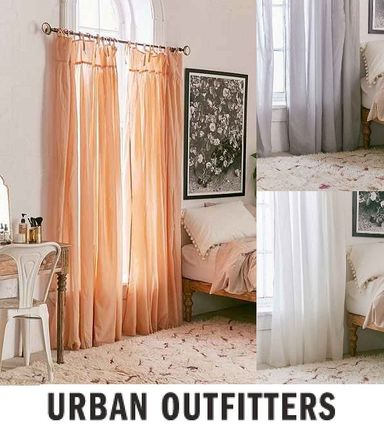 UO * Gathered Voile curtain length