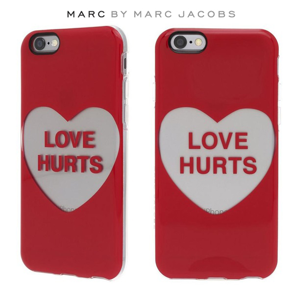 MARC BY MARC JACOBS☆iPhone6/6s ケース Love ハート レッド