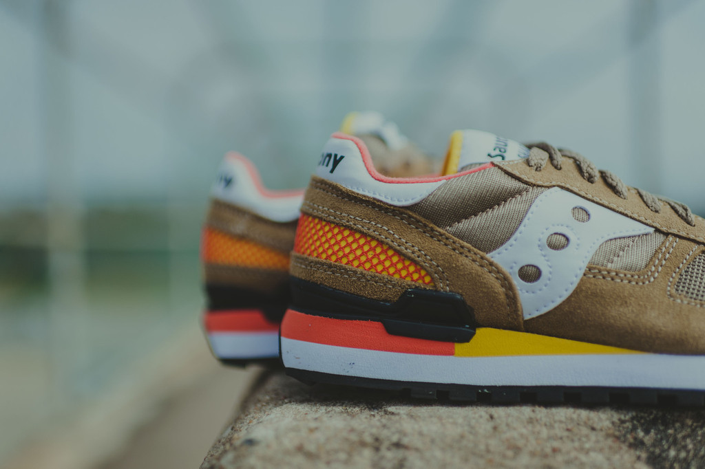 【送料無料】WMNS Saucony Shadow Original (Tan/Yellow/Orange)