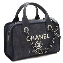 CHANEL ドーヴィル チェーン ボーリングバッグ A92749 【即発】