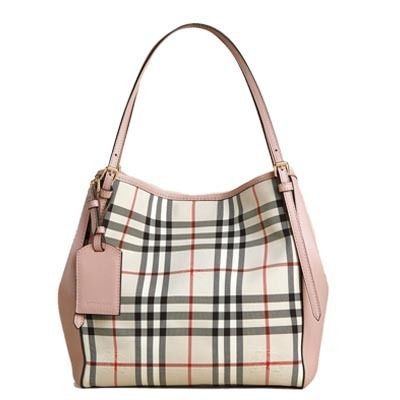BURBERRY SMALL horse ferry check & leather tote 4003439