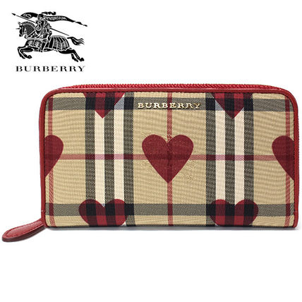 Burberry long wallet 3996682 ELMORE:PARADE RED-Red