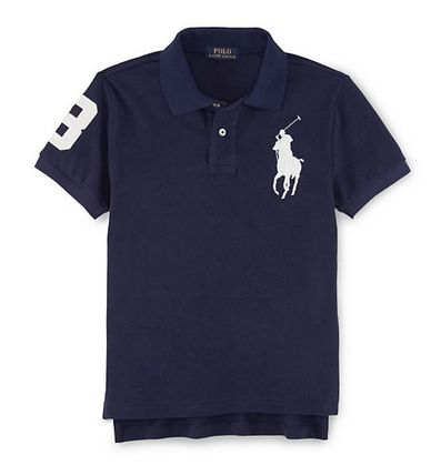 Quantities limited big pony short sleeve polo shirt Navy