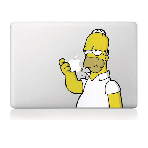 For Apple Macbookステッカー ホーマーシンプソン 13inch decal