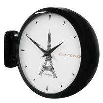 Timedeco DOUBLE FACE WALL CLOCK  Eiffel Tower(BK)