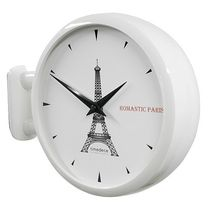 Timedeco DOUBLE FACE WALL CLOCK  Eiffel Tower(WH)