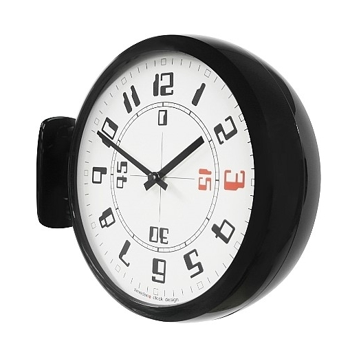 Timedeco Modern Double Clock Bk (A4)