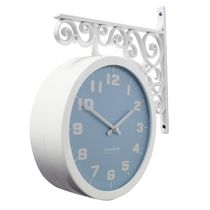 Timedeco Modern Double Clock TD-Pastel blue(WH)