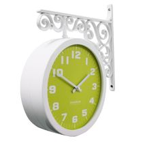 Timedeco Modern Double Clock TD-Pastel green(WH)