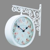 Timedeco Modern Double Clock TD-FLOWER3(WH)