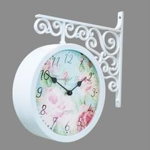 Timedeco Modern Double Clock TD-FLOWER4(WH)