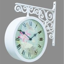 Timedeco Modern Double Clock TD-FLOWER7(WH)
