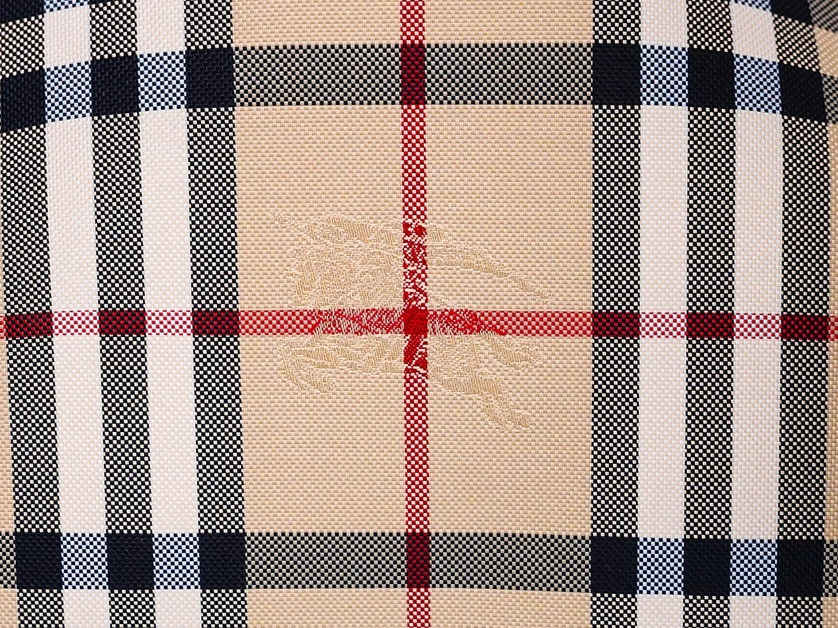 BURBERRY 3994661 DEEP CLARET HORSEFERRY CHECK SMALL CANTER