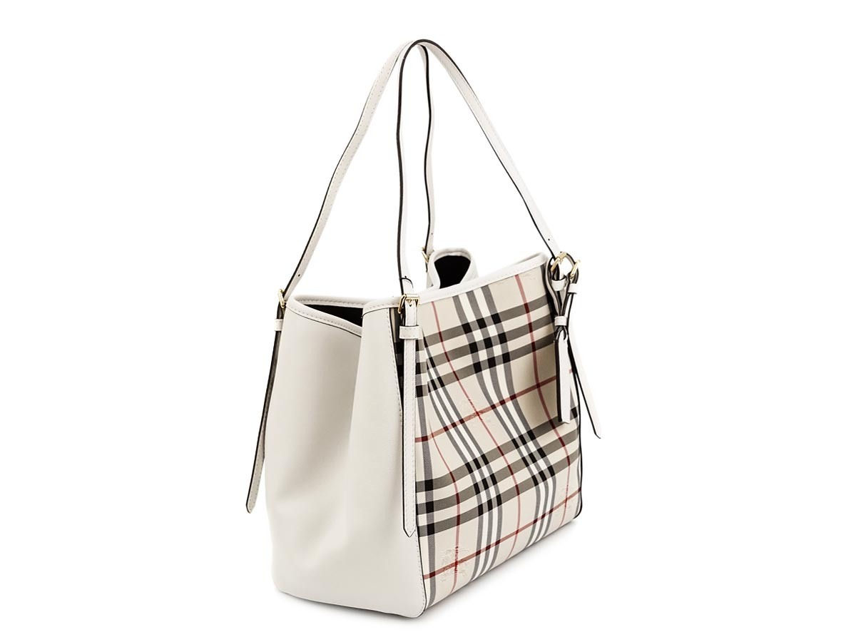 BURBERRY 4003438 WHITE HORSEFERRY CHECK SMALL CANTER