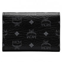 MCM カードケース2FOLD CARD SNAP CLOSURE.2CREDITSパスケースBK