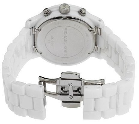 ☆Michael Kors☆ Runway White Dial Ceramic Strap with Glitz