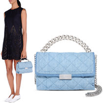 16SS SM158 STELLA McCARTNEY quilted denim crossbody bag
