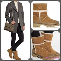 ★TORY BURCH《BOUGHTON SHEARLING-LINED SUEDE BOOTS》送料込★