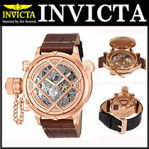 INVICTA(インヴィクタ) アナログ時計 【注目商品】☆INVICTA Russian Diver Two-Tone Genuine Leather