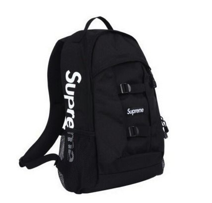 "【送料込】14SS★入手困難★Supreme Logo Backpack ""Black"""