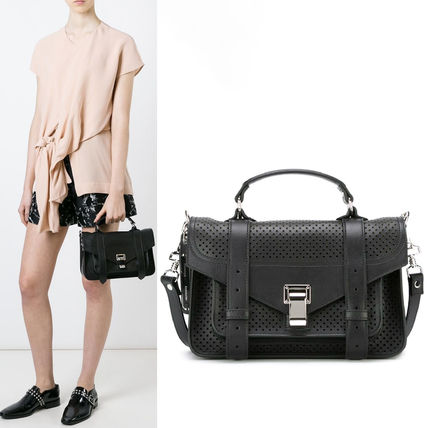 """Proenza Schouler ハンドバッグ 16SS PS074 """"PS1″ perforated tiny satchel"""
