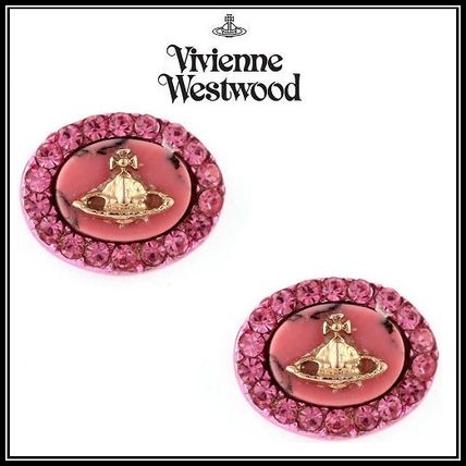 *Vivienne Westwood*GISELLE Stone&クリスタルピアス *ピンク*