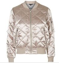 春夏最新作★Shiny Quilted Bomber