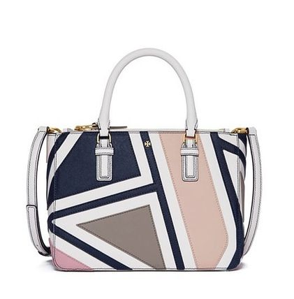Tory Burch ROBINSON FRET-PATCHWORK SMALL MULTI TOTE