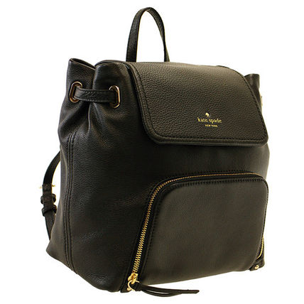 KATE SPADE レザー バックパック Cobble hill  BLACK