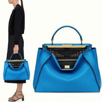 FE785 FENDI STUDDED BAG BUGS LARGE PEEKABOO