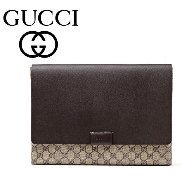 イチオシ品 ☆Gucci☆ GG Leather TRAVEL POUCH クラッチ♪
