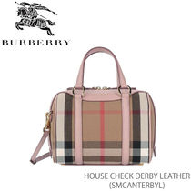 【BURBERRY】SM ALCHESTER House Check Derby Leather