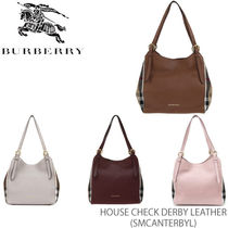 【BURBERRY】SM CANTERBY L House Check Derby Leather