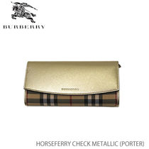 【BURBERRY】ELMORE Horseferry Check[ラウンドファスナー]