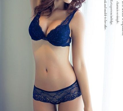 Bra & shorts set blue wine black beige Red