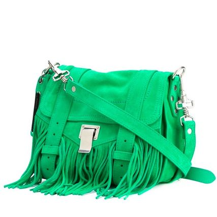 "Proenza Schouler ショルダーバッグ・ポシェット 16SS PS115 ""PS1″ fringed pouch(2)"