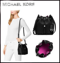 MICHAEL KORS★ Greenwich Small Saffiano Leather Bucket Bag