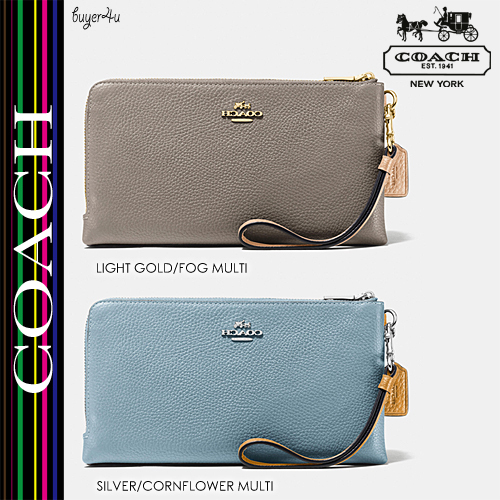 COACH★使い勝手抜群☆DOUBLE ZIP WALLET IN COLORBLOCK LEATHER