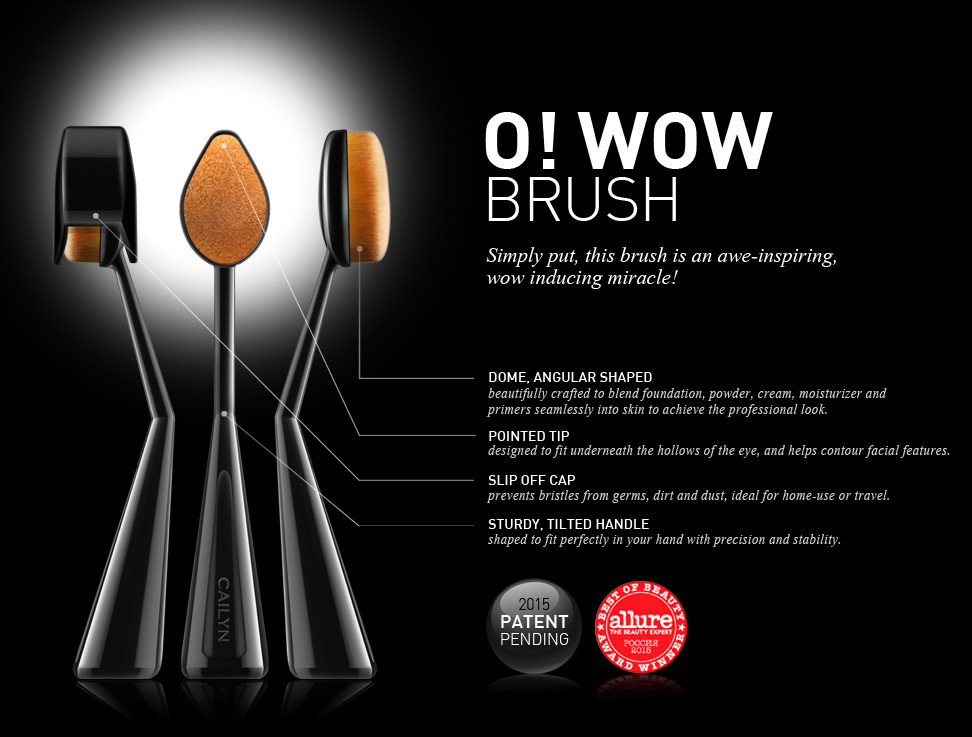 話題☆Cailyn Cosmetics☆O! WOW BRUSH☆フェイスブラシ